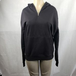 Divided Black Hoodie Full Face Zip Up Size M